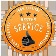 Bester Service Siegel